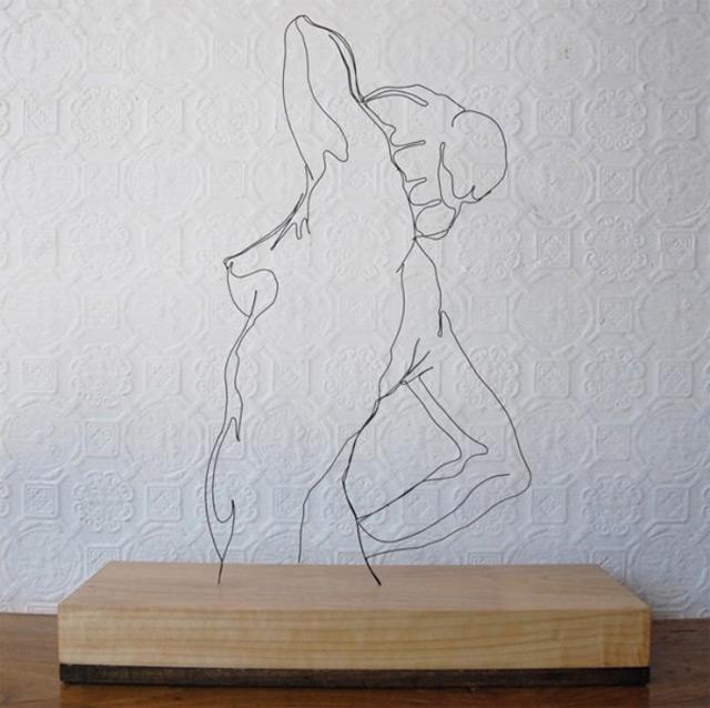 Draht-Linien-Skulpturen