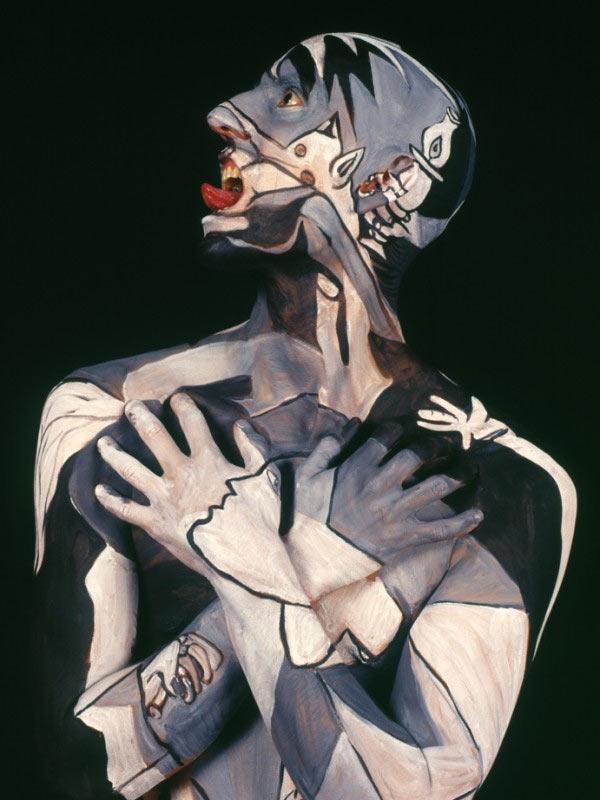 Gemälde auf nackten Körpern