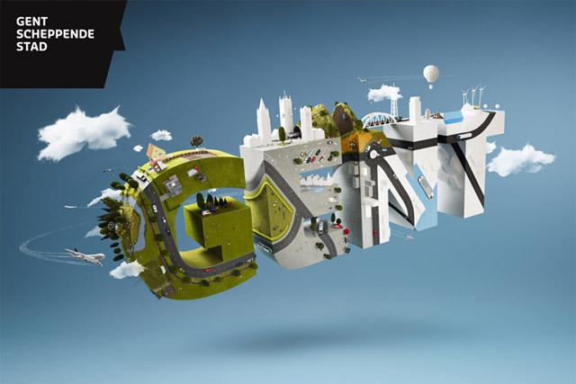 Miniaturwelt auf einem Logo: Parklife & Gent