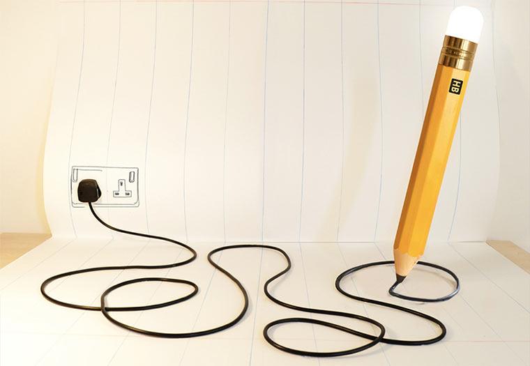 Giganto-Bleistift-Lampe
