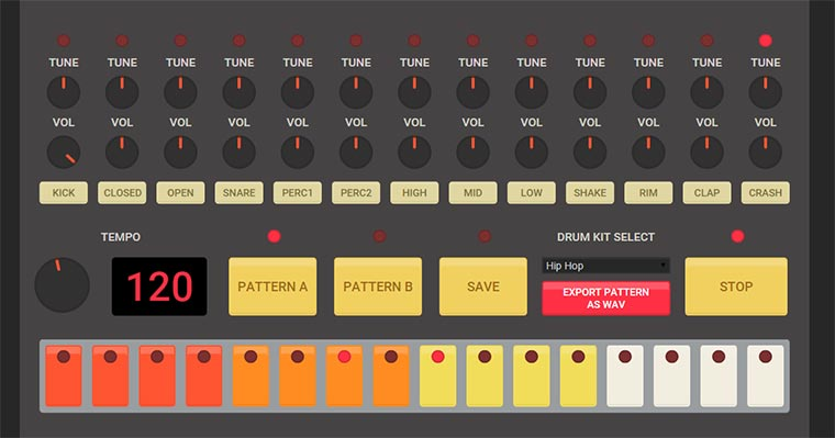 Beats im Browser bauen HTML5_Drum-machine