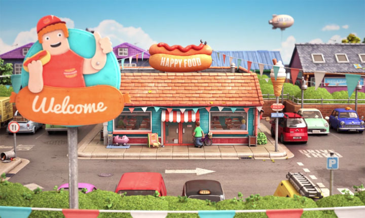 Lovely Animation: Happy Fast Food