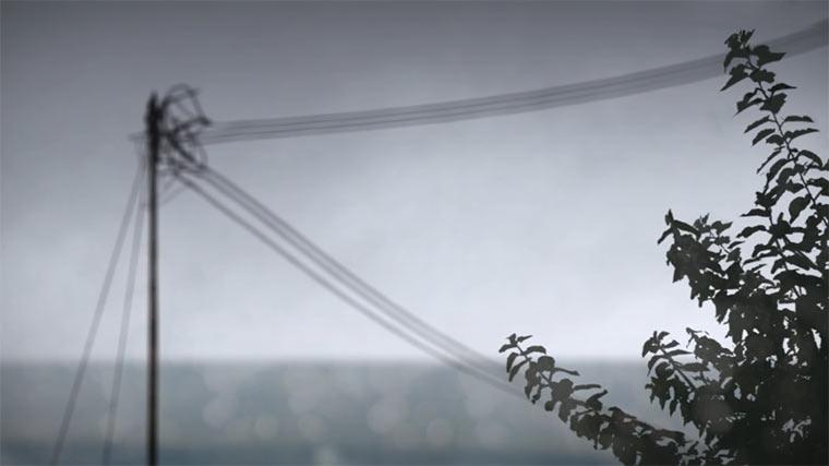 Verregnete Hintergrund-Animationen