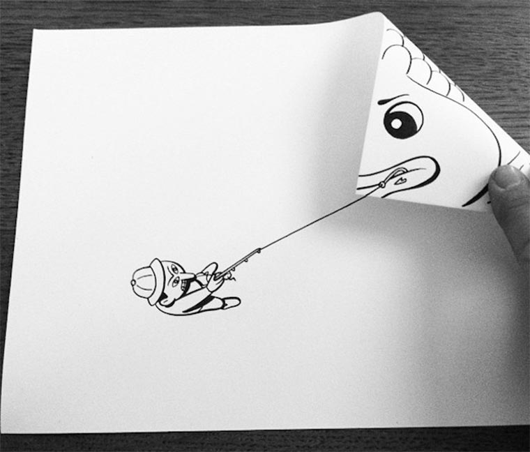 Clever gefaltene Zeichnungen HuskMitNavn_01
