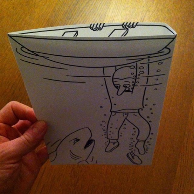 Clever gefaltene Zeichnungen HuskMitNavn_03