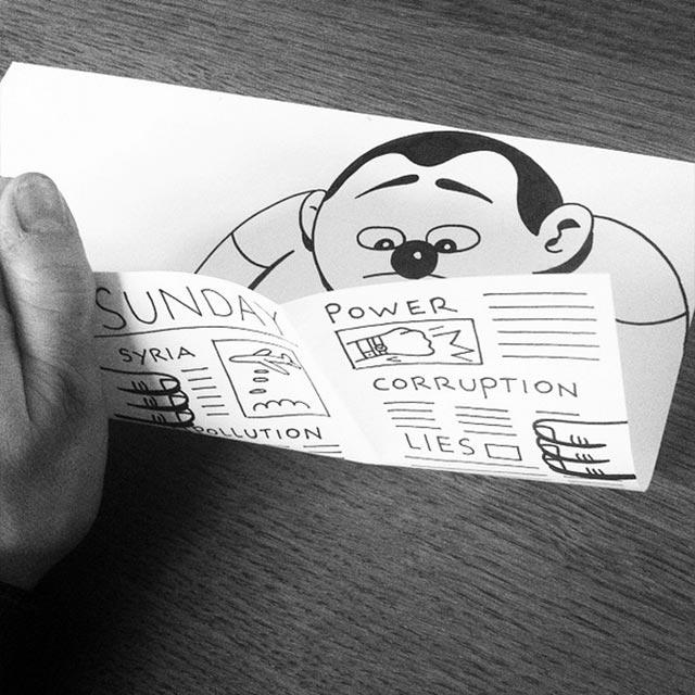 Clever gefaltene Zeichnungen HuskMitNavn_05
