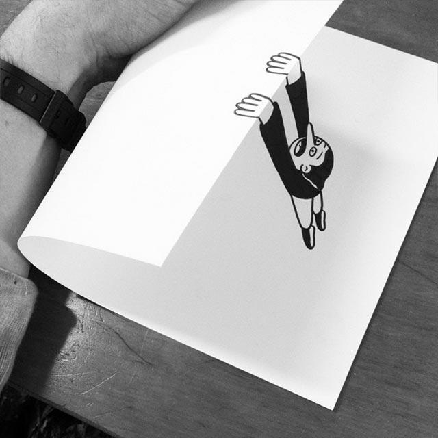 Clever gefaltene Zeichnungen HuskMitNavn_06