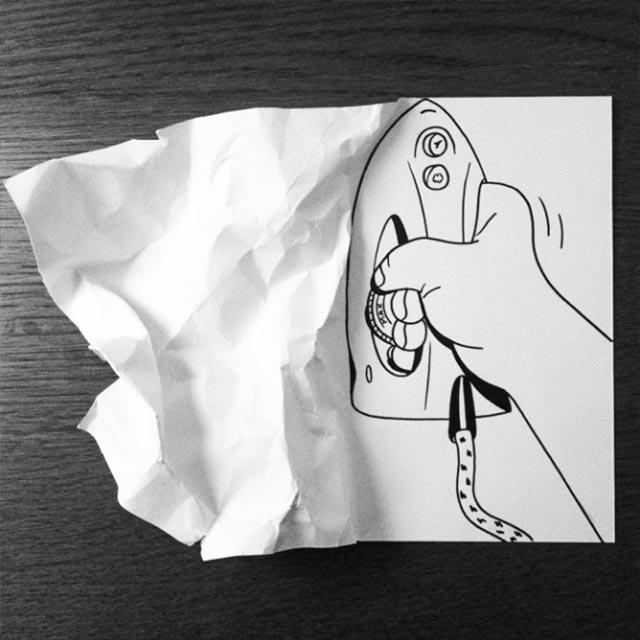 Clever gefaltene Zeichnungen HuskMitNavn_09
