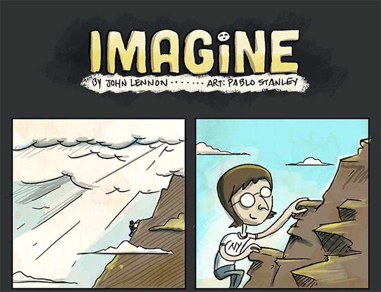 Illustrated Imagine by John Lennon