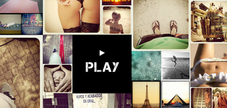 Eine Videogeschichte aus Instagram-Bildern