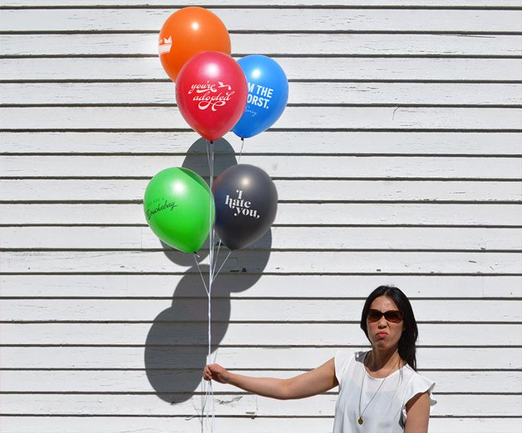 Arschloch-Ballons
