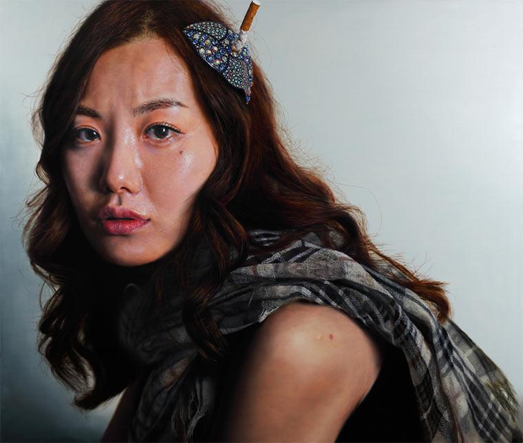 hyperrealistische Gemälde: Kang Kang-Hoon