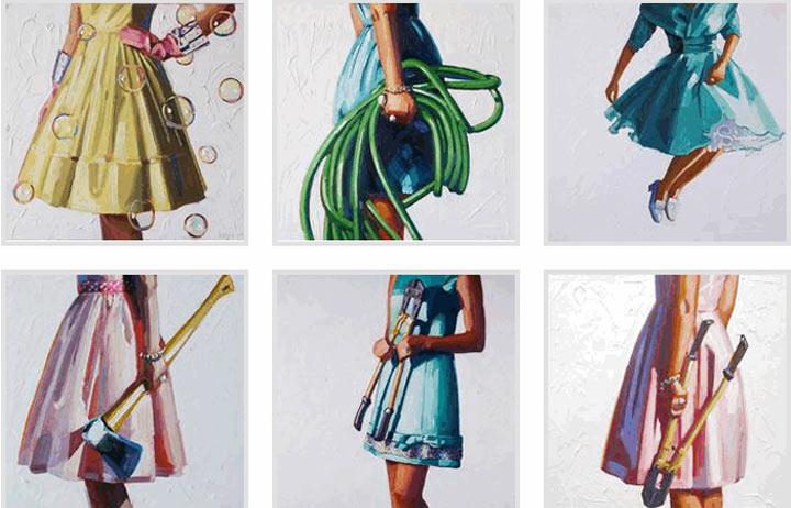 Malerei: Frauen mit Dingen