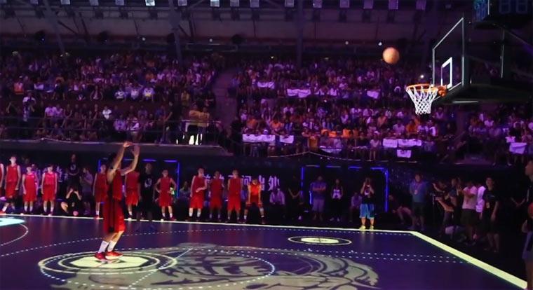 Basketball-Court mit Touchfunktion