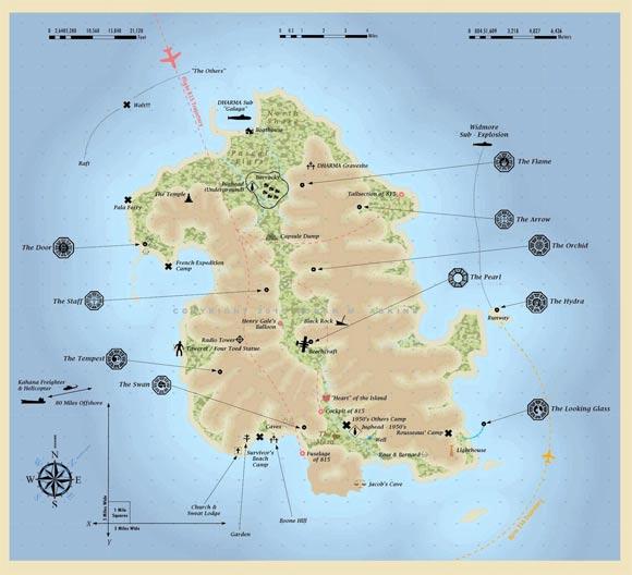LOST: Exakte Karte der Insel