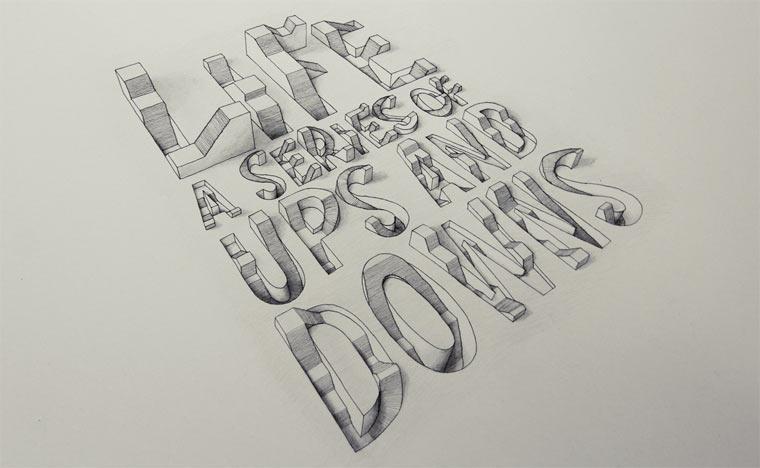 3D-Typografie von Lex Wilson