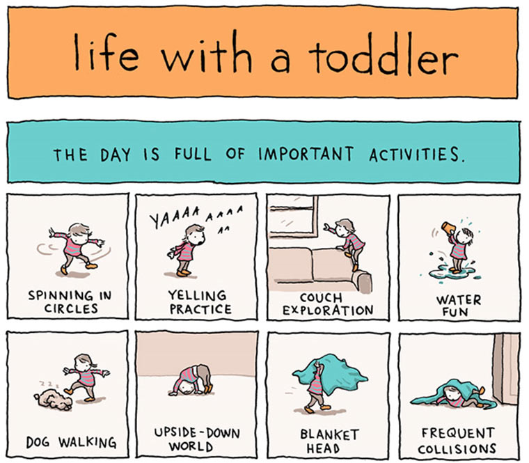 Comic: Life with a Toddler
