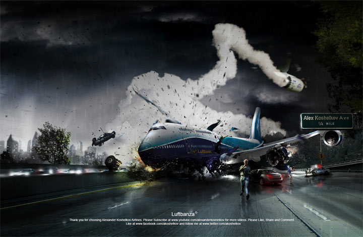 Photoshop Timelapse: Luftbanza Airlines