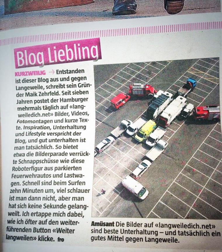 LangweileDich.net in der Zeitung!