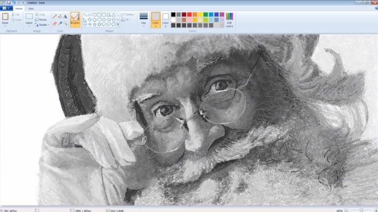MS Paint-Skills: Weihnachtsmann