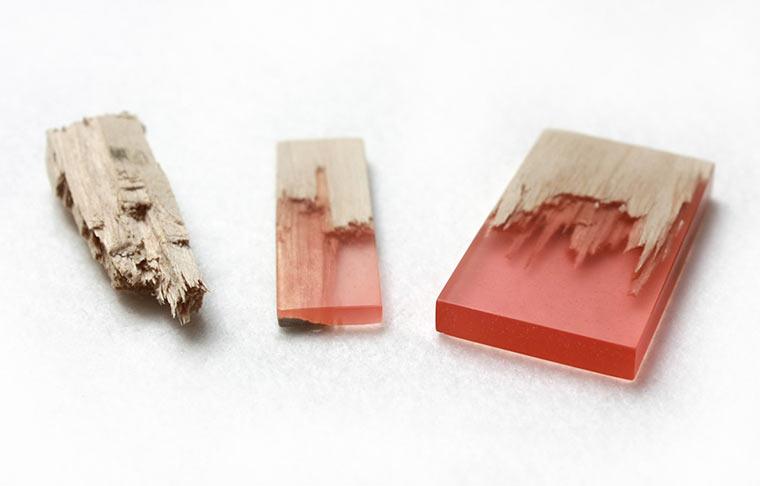 Schmuck aus Holz und Harz