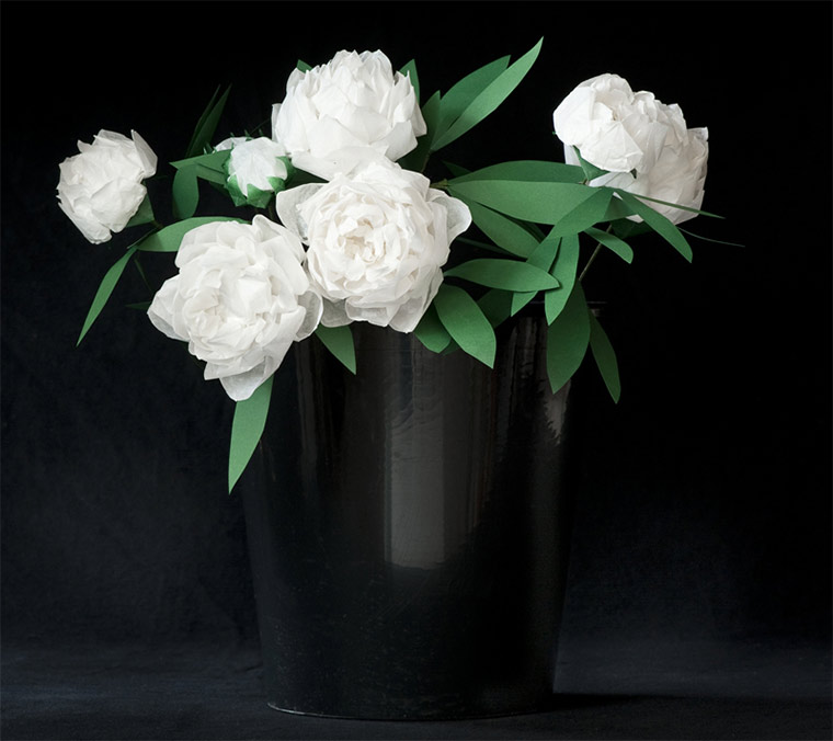 Blumen aus gefaltetem Papier