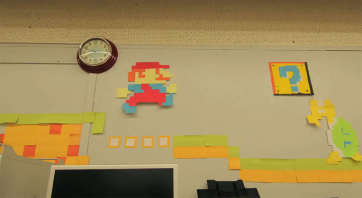 Super Mario Stopmotion aus 7.000 Post-Its