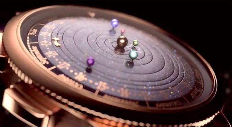 Luxus: die Sonnensystem-Uhr