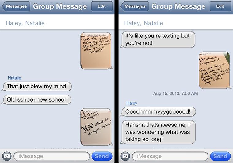 Handgeschrieben auf SMS antworten