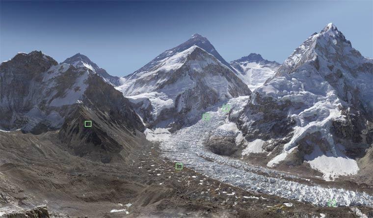 interaktives 2 Mrd. Pixel-Foto des Mount Everest