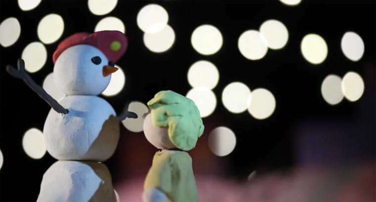 Knet-Stopmotion-Splatter: Mr. Frosty Man
