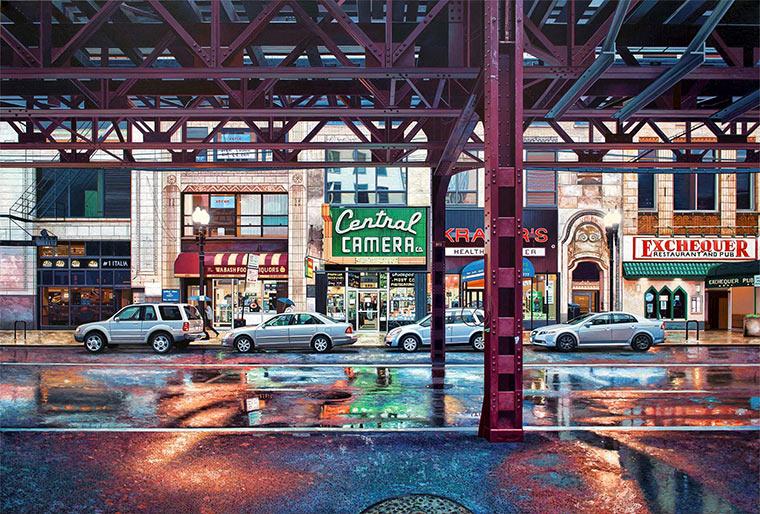 hyperrealistische Stadtlandschaften: Nathan Walsh