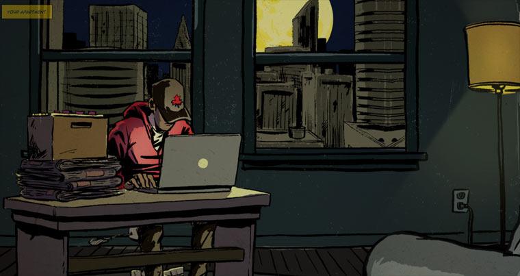 Großartiger interaktiver Comic