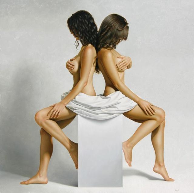 Hyper-realistische Aktgemälde von Omar Ortiz