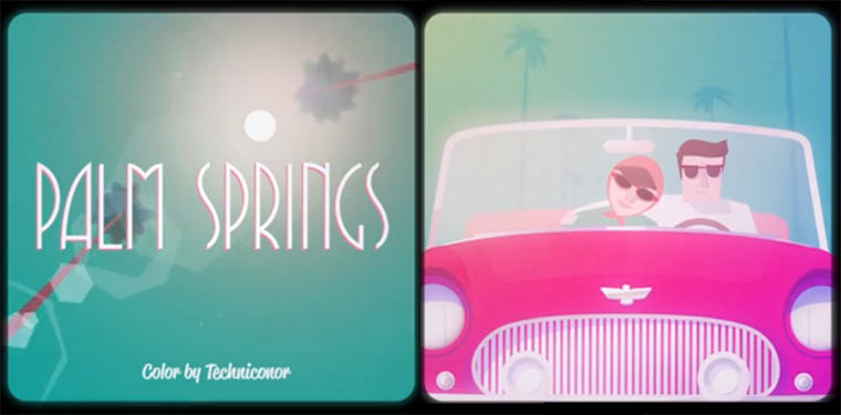 animierte Hommage an Palm Springs