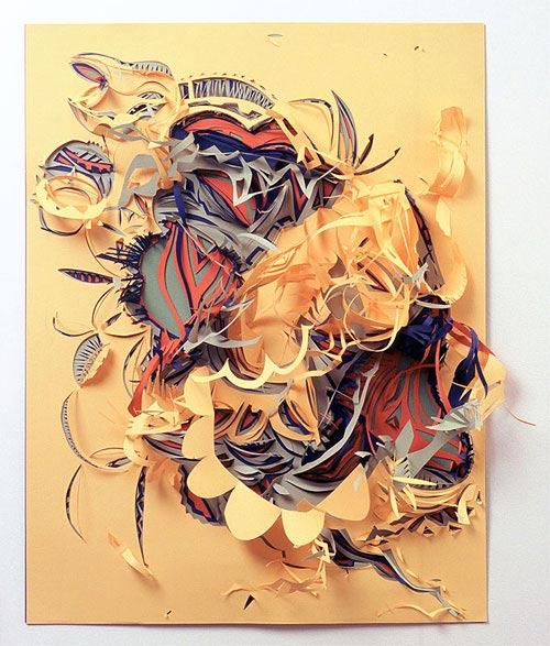 Verschnitt: Papierfetzenkunst