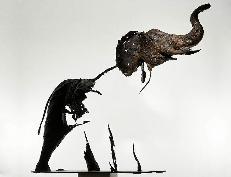 Verschwindende Tier-Skultpuren Pascal-Chesneau_01