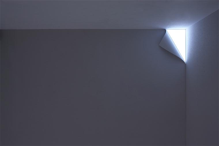 Die leuchtende Wand
