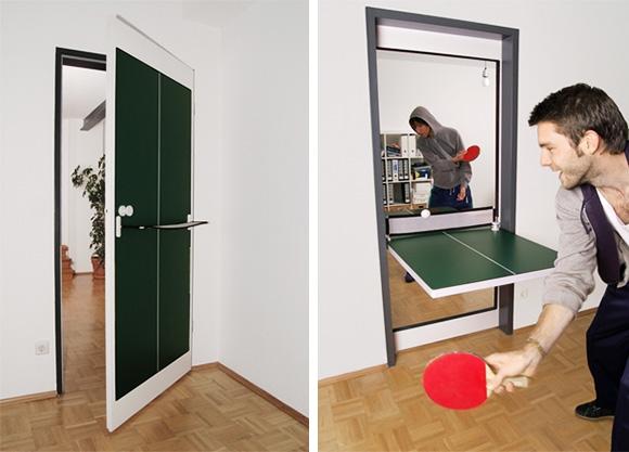 Tischtennis-Tür