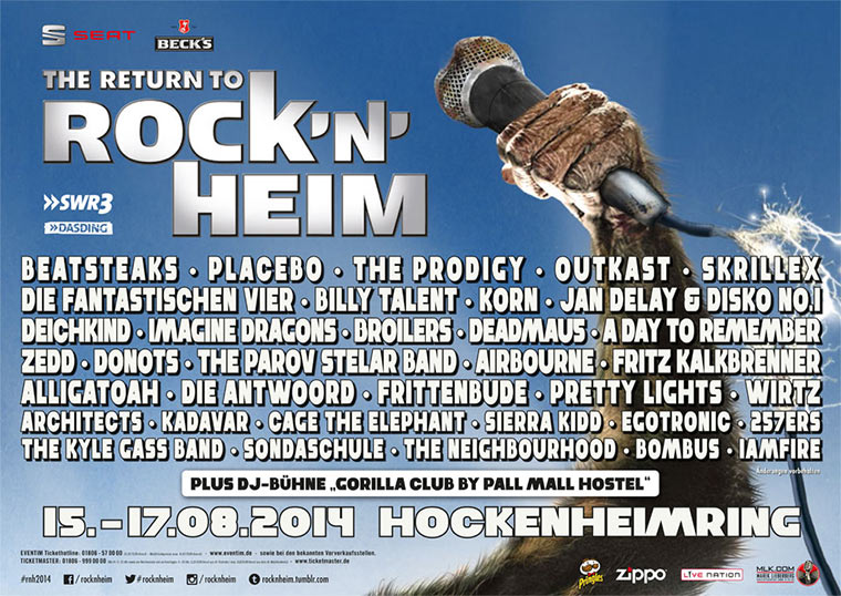 Gewinnt Tickets fürs Rock`n Heim Festival