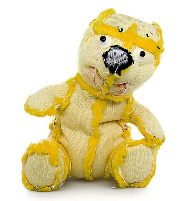 Teddybären auf Links gedreht