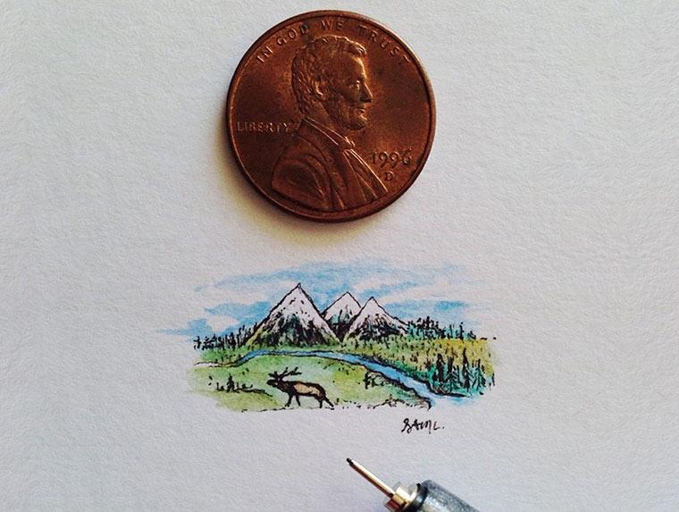 Mini-Zeichnungen von Sam Larson