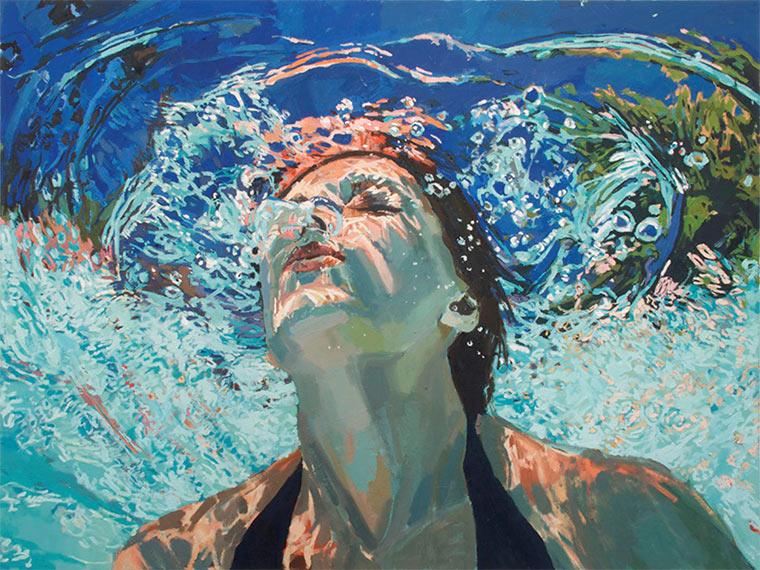Gemalte Unterwasser-Portraits
