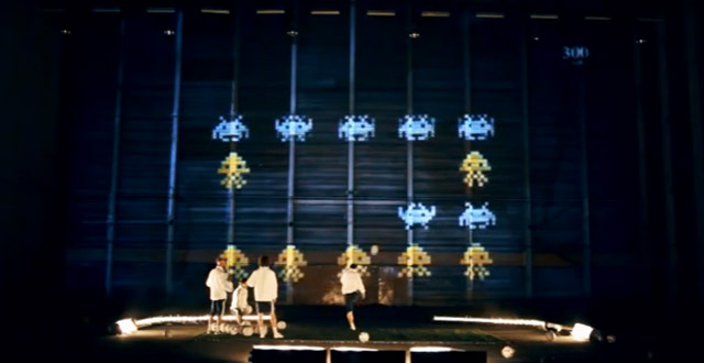 3D Mapping: Interaktives Fußball-Space Invaders