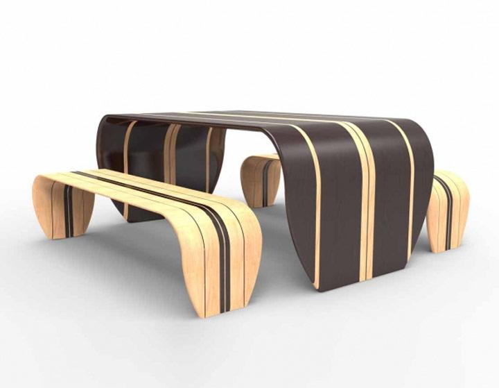Surfbrett-Tisch