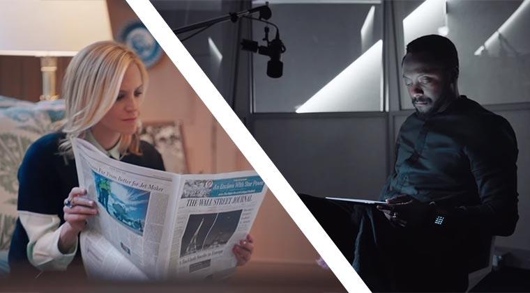 Heutiges Zeitnehmen zum Zeitungslesen