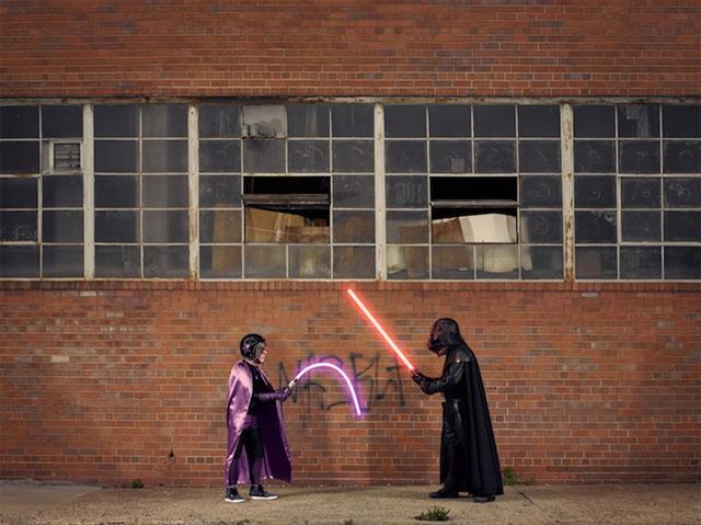 Fotografie: Darth Vader und sein Opa