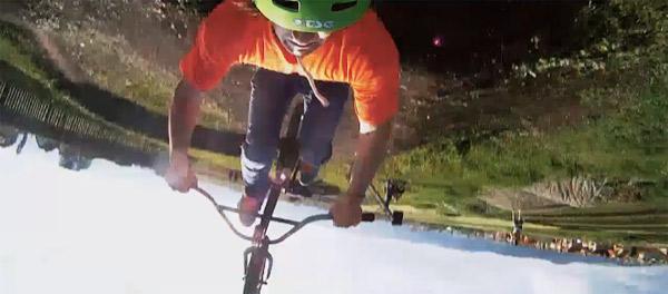 Traum: BMX-Parcour im Garten