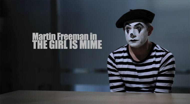 Short: The Girl Is Mime (mit Martin Freeman!)