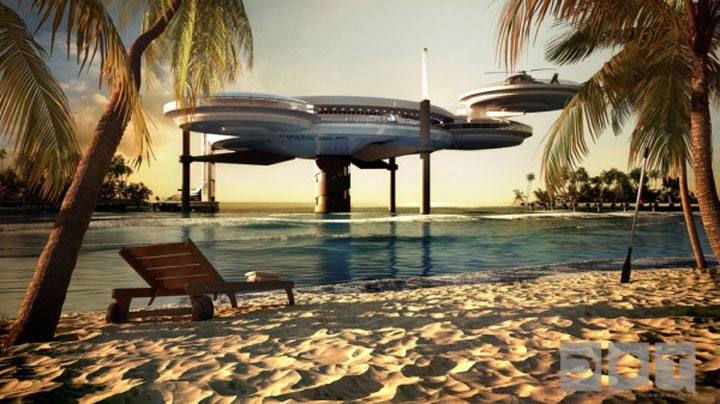 Unterwasser-Überwasser-Hotel